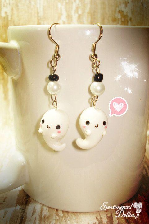 Kawaii Halloween Earrings Halloween Jewelry by SentimentalDollieZ, $10.50
