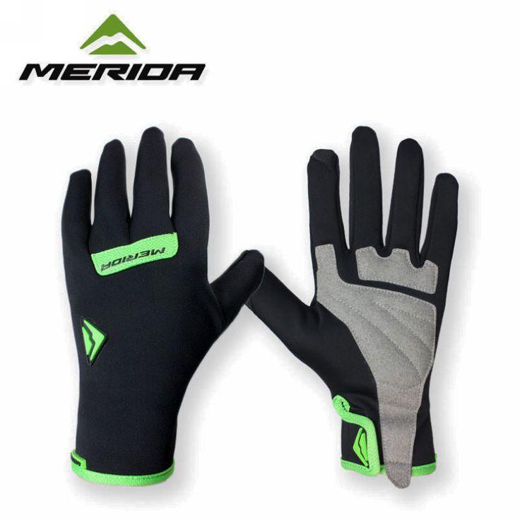 HOT! MERIDA Waterproof Cycling Gloves Shockproof Bike Bicycle Full Finger Gloves M/L/XL #shoes, #jewelry, #women, #men, #hats