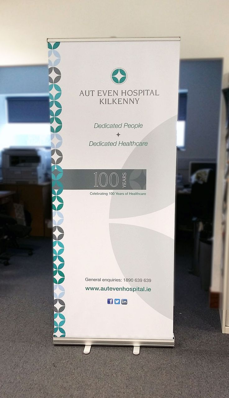Our pull-up banner design for @Autevenhospital #display #signage #banners