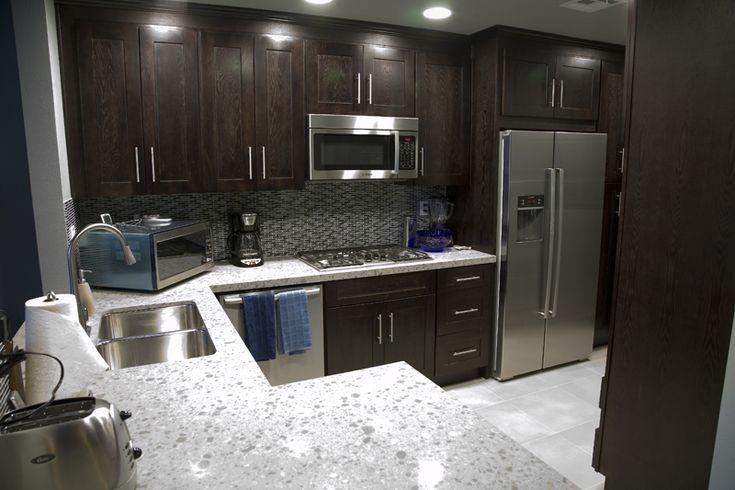 Subway Tile Kitchen Backsplash With Dark Cabinets ~ http ...