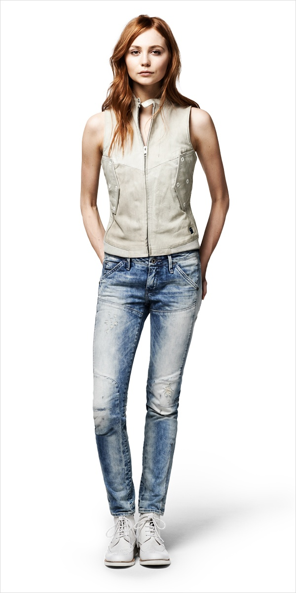 Leather barracuda sleeveless shirt  MC 5620 slim tapered  http://g-star.com/theartofraw