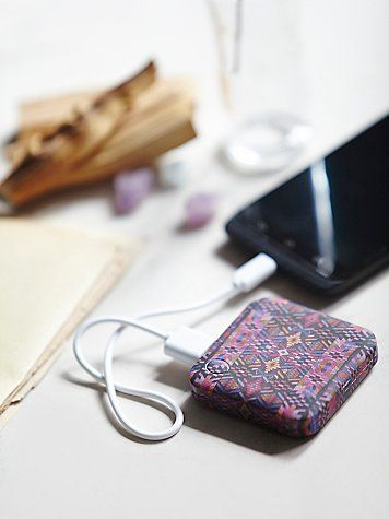 Power Bank Charger | Charging on the go just got a lot easier and a whole lot cuter.  Fun designed portable charger is compatible with most smartphones, mp3 players, and USB powered devices.  USB cable provided.      *By Free People
