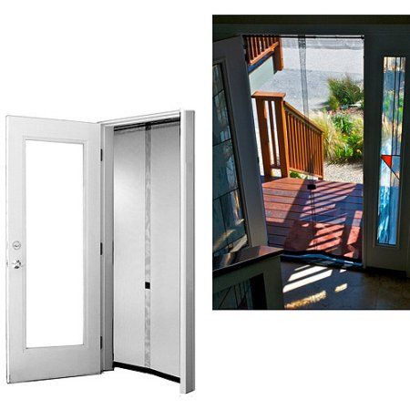 Bug Off Instant Screen Door with Portable and Reversible Bug Off Screen 64 inch x