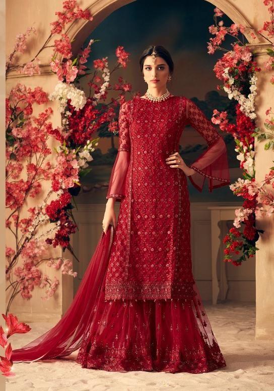 e79de31f25 Mohini Fashion Glamour Designer Sharara Style Salwar Suit. March 2019
