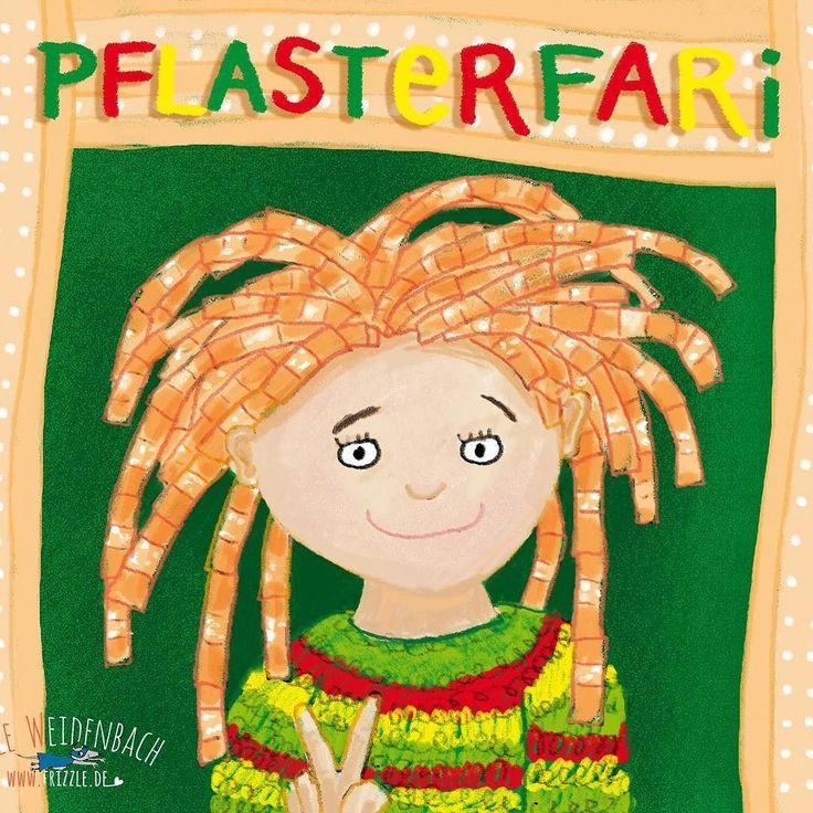 165/365 - PFLASTER - Pflasterfari  . . . #365doodlesmitjohanna @byjohannafritz  #kidlitart #pflaster #dreadlocks #pflaster #kinder #kinderbuchillustration #pflasterhaare #rastafari #lebenmitkindern  #bookillustration #kidsbookillustration #kidsbook #illustratorsofinstagram  #rasta #pubertät #plaster #puberty #bookillustration #kidsbookillustration #kidsbook #illustratorsofinstagram  #patch #girl #bandaids #hairdressermagic