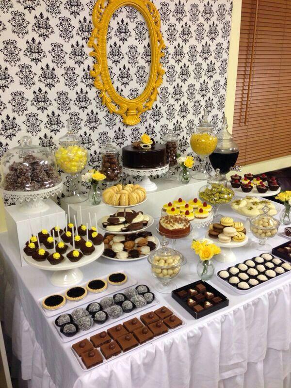 Black#white #yellow # 18th birthday party