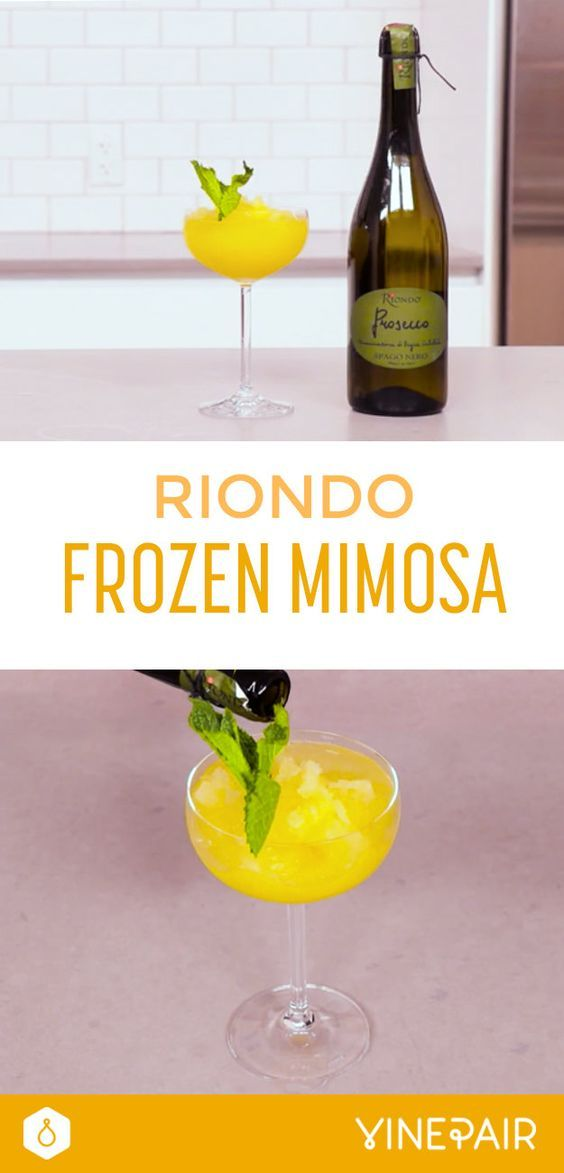 WHAT YOU'LL NEED: - 1 cup orange juice - 2 cups Riondo Prosecco - 2 oz. Triple Sec - Mint leaves