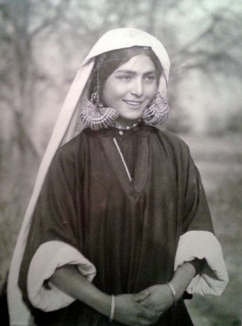 Kashmiri Muslim girl . 1939. people, cultures, tradition, emotions, ethnic costumes