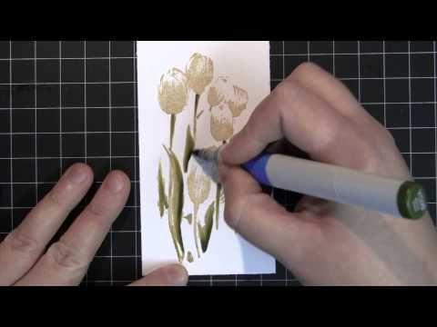 Brushstroke Stamp technique video tutorial - Penny Black and Jill Foster, PB