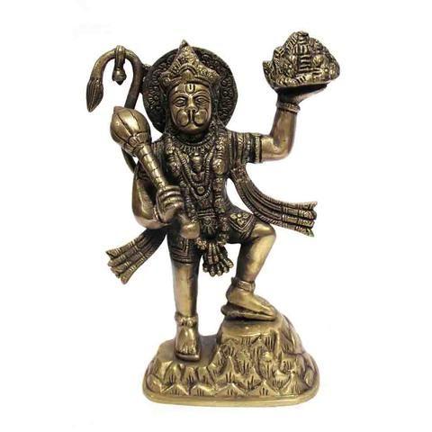 Beautiful Hanuman Ji Idol made of Brass with Antique Finish. Price: Rs 2,302 #Buy more #Indian #Spiritual #Idols #Online.