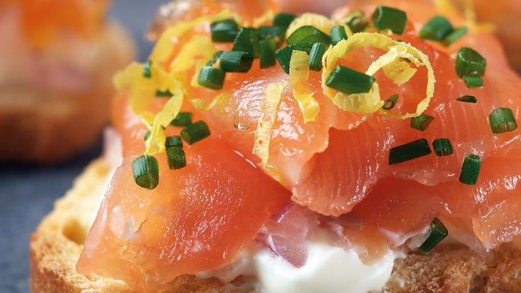 Baguette, Salmon and Creme fraiche on Pinterest