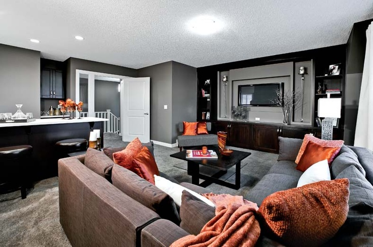 Bonus room with wet bar in Leera Showhome in Sherwood in NW Calgary, Alberta, by Shane Homes