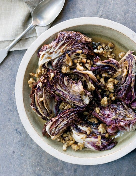 Balsamic-Glazed Roasted Radiccio with Walnuts from The Blender, Williams-Sonoma's Blog