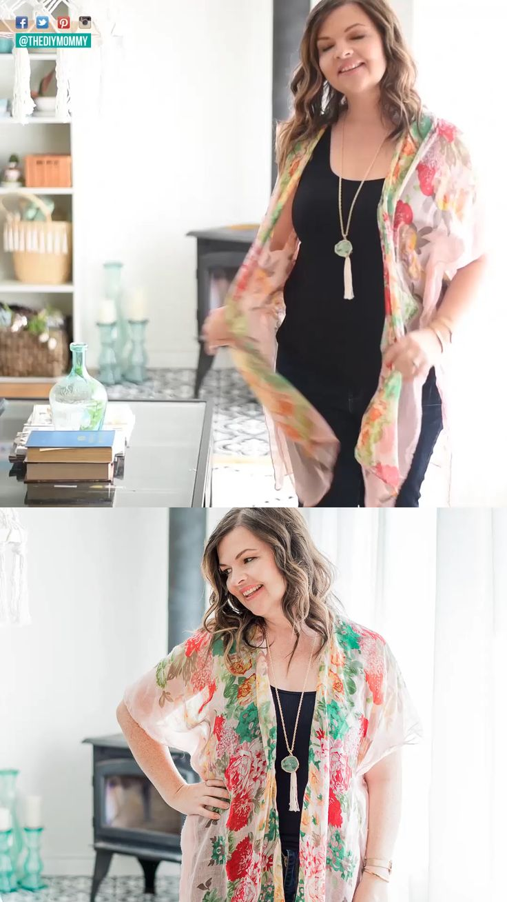 DIY Kimono Cardigan from a Scarf