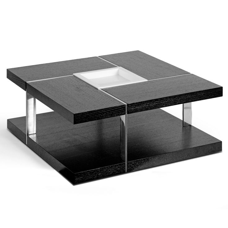 Glamour Aira Black Square Coffee Table With Modern White Tray Center and  Metal Accent Legs ( - 25+ Best Ideas About Black Square Coffee Table On Pinterest