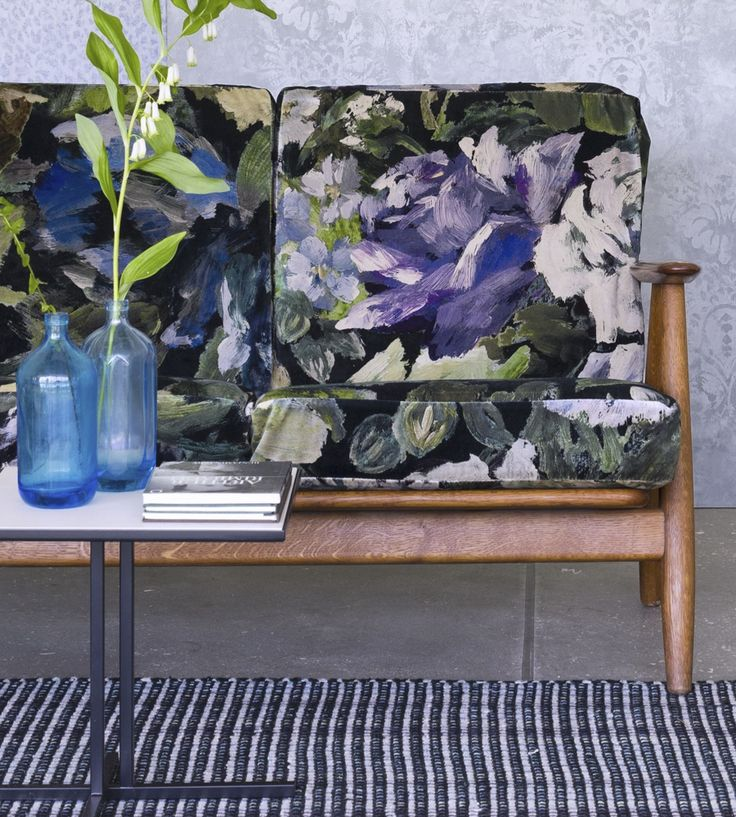 Interior Design Trend, Painterly Florals | Bloomsbury Rose Fabric by Designers Guild | Jane Clayton