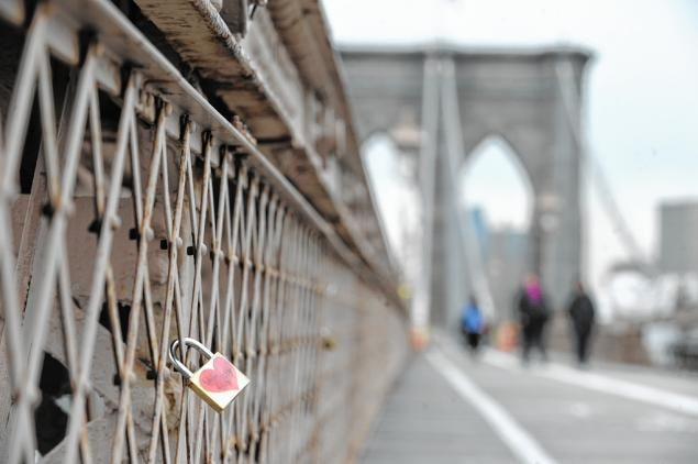 Celebrating our 1 yr wedding anniversary on 8/31 and we are putting our lock of love on the Brooklyn bridge! <3