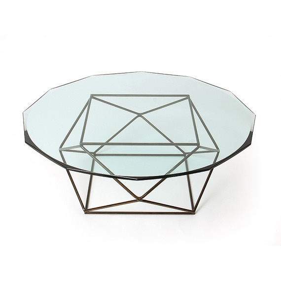 Geometric Table for Wyeth Home seen in @House Beautiful magazine apartment designed by David Rockwell of the Rockwell Group