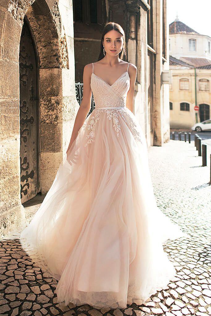 Wedding Dress By Oksana Mukha Pink Wedding Dresses Cute Wedding Dress Perfect Wedding Dress