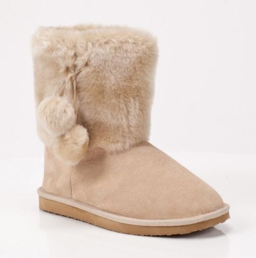 Sheepskin Pom Pom Boots - Girls Winter Boots by LAMO :}