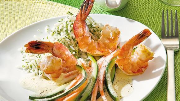Garnelen+mit+Möhren+und+Zucchini+in+Vanillesauce+Rezept+»+Knorr