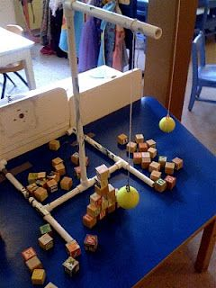 learning about pendulums in preschool...great summer camp project idea too!