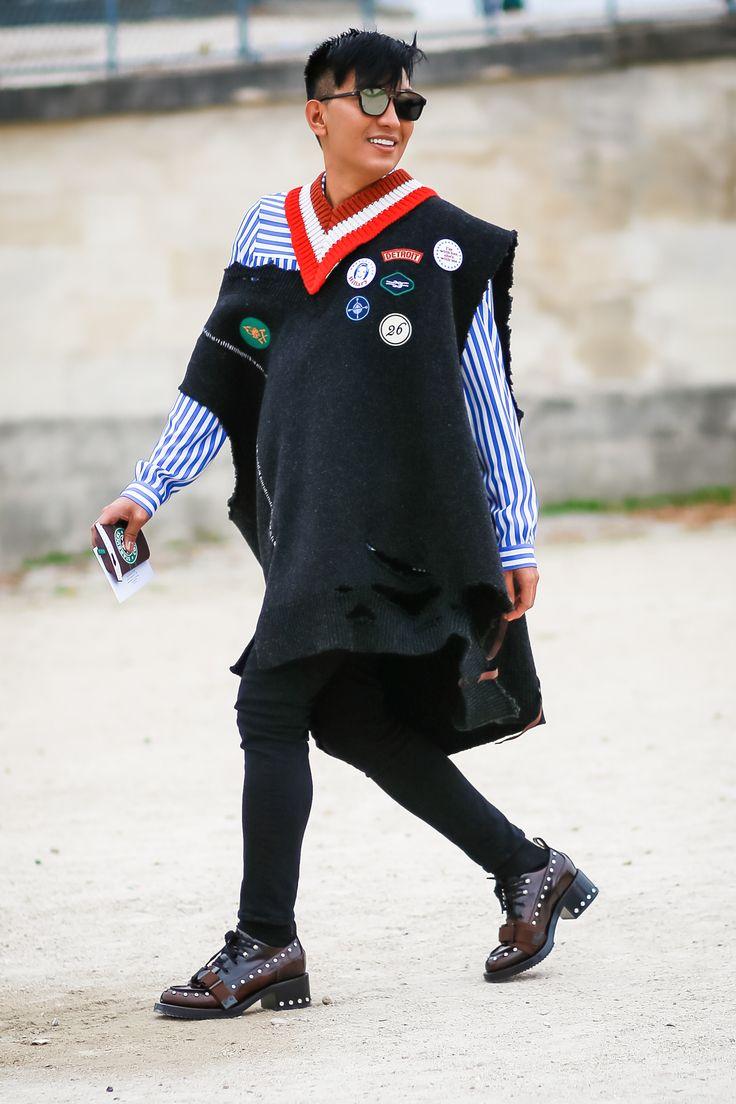 Original Blogger Bryanboy in the Tuileries Gardens