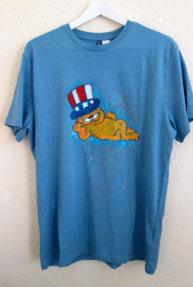 Garfield painted on t-shirt