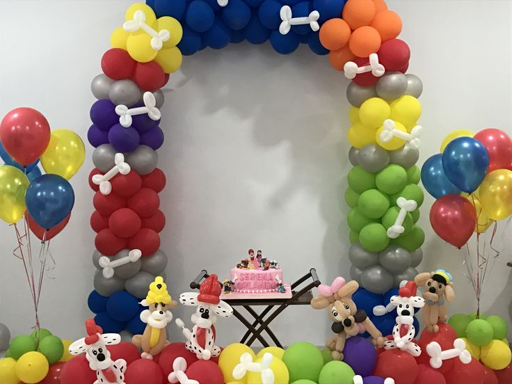 Paw patrol decoration by @dreamsballoon