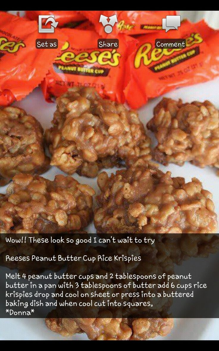 Reese's Peanut Butter Cup Rice Krispies