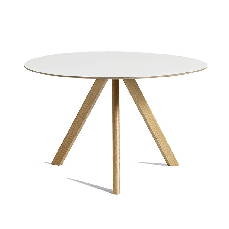 CPH 20 matbord Ø120, ek/vit i gruppen Möbler / Bord / Matbord hos RUM21.se (132034)