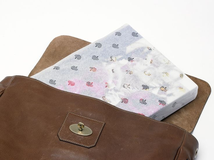 Mulberry tree motif printed tissue paper packaging