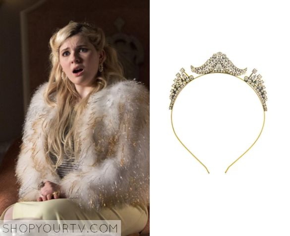 Chanel #5 (Abigail Breslin) wears this embellished headband tiara in this week's episode of Scream Queens.