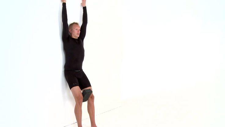 Fustra övning mot en stel bröstrygg