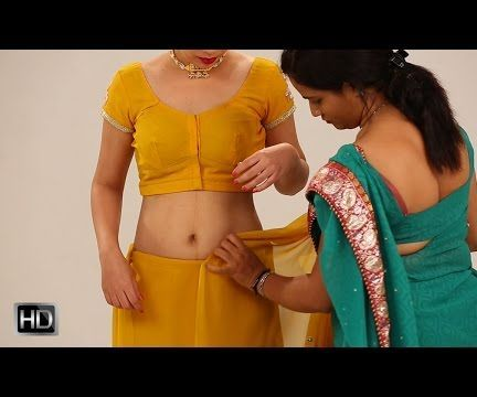 #saree #sari #drape #tie #indian #fashion - How to wear a saree to look slim.
