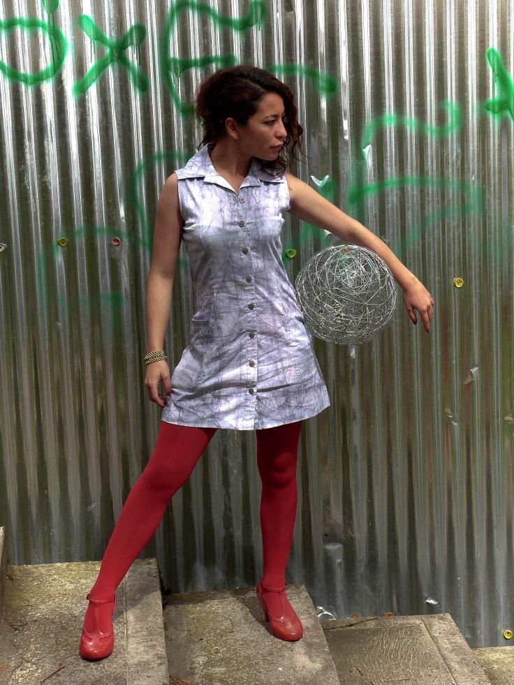 Vestido pintado a mano en 100% algodón con la técnica del batik. Diseños exclusivos!!!