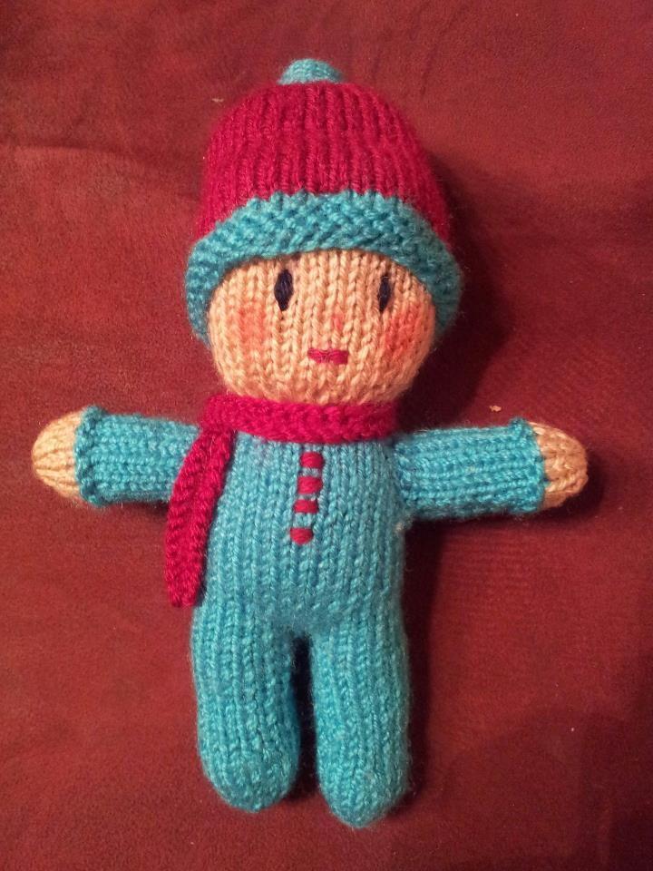 knitted boy doll