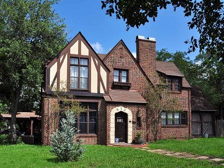 1935 tudor revival mcdougal jones house in bryan texas tudor style architecture and details. Black Bedroom Furniture Sets. Home Design Ideas