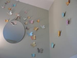 DIY Wall Butterflies...this are sweet!Rosie Room, Avi Room, Butterflies Projects, Girls Room, Room Ideas, Scrapbook Paper, Wall Butterflies Thy, Alba Room, Baby Girls