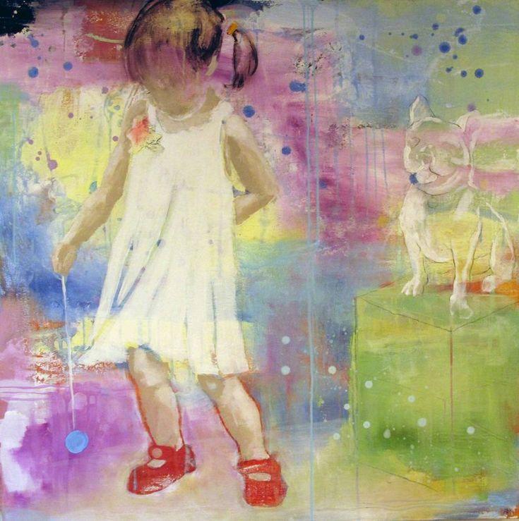 DEN NYE KJOLEN BY ANNE-BRITT KRISTIANSEN  #fineart #art #painting #kunst #maleri #bilde