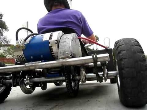 Electric Go Kart. What if you added an alternator powered by the rotation of the axle, with a pulley, hooked up to the batteries? Would that increase the life of the charge in the batteries?