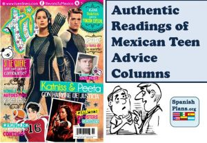 Authentic Spanish Readings from Mexican teen magazine. Read letters asking for advice and read responses.