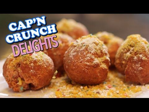 HOW TO MAKE Cap'N Crunch Berry Glazed Donut Holes Recipe | HellthyJunkFood - YouTube