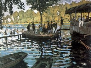 Claude Monet; La Grenouillère; 1869; olio su tela; Metropolitan Museum of Art, New York.