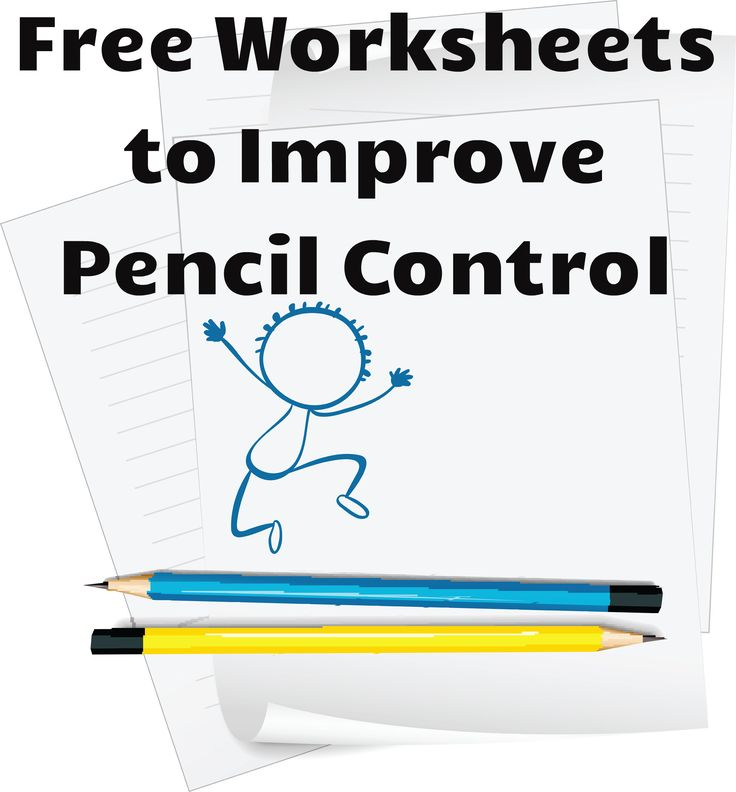 Free worksheets to develop pencil control and strengthen pincer grip.