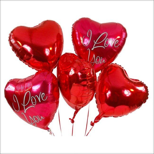 """Ballonbukett XXL - Roter Herzballon - I love you      Überraschen Sie mit den schönsten Worten der Welt. Die Botschaft der beiden Herzballons lautet """"I love you"""" und trifft garantiert inmitten des Herzens der beschenkten Person. Abgerundet wird dieses XXL-Bukett durch drei rote Herzballons."""