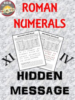 Make learning about Roman numerals fun with this hidden message from Julius Caesar.   Your kids will love cracking this code. In cracking this code they will learn how to read Roman numerals.