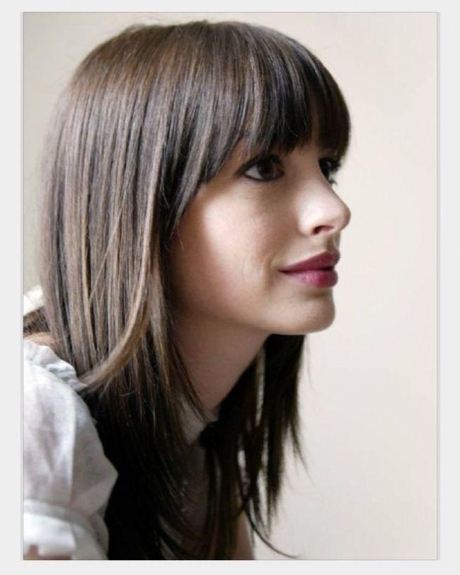 Bangs With Face Frame Layers Hair Makeup Pinterest Face Regarding Elegant Bangs That Frame Fac Hair Styles Medium Hair Styles Long Hair With Bangs