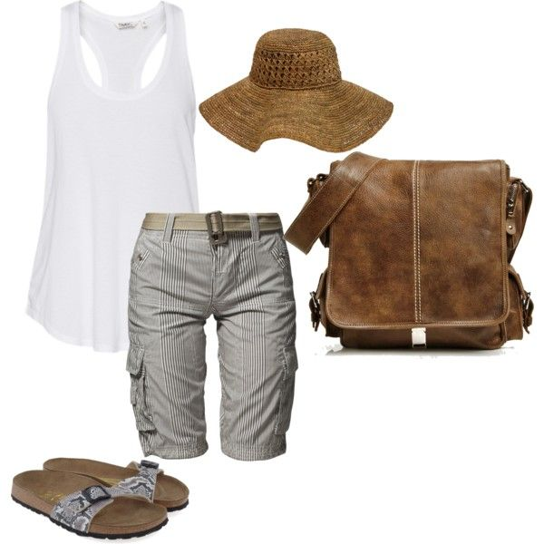 this is a fantastic and simple outfit! My Fishing Attire, created by karentm on Polyvore