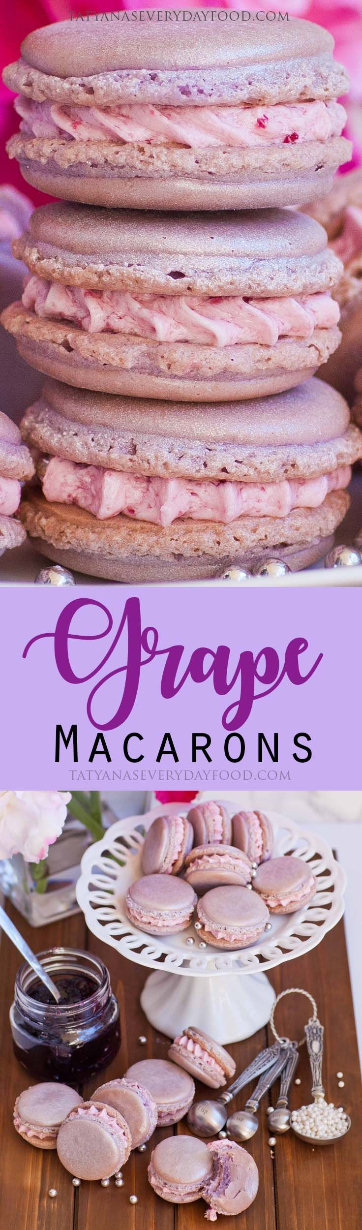 Sparkling Wine Grape Macarons - Tatyanas Everyday Food
